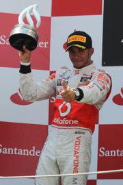 Lewis Hamilton, segundo en el GP de España de Formula 1, 2011