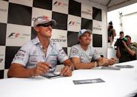 Michael Schumacher, Nico Rosberg, Mercedes GP Petronas, GP Canadá, 2011. Fórmula 1. Autógrafos