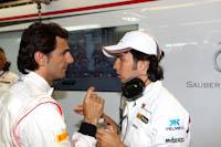 Pedro de la Rosa, Sergio Perez, Sauber F1, GP Canadá, 2011, Fórmula 1. Box.