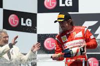 Fernando Alonso, Scuderia Ferrari, GP Europa 2011. Fórmula 1. Domingo. Podium.