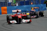 Fernando Alonso, Scuderia Ferrari, GP Europa 2011. Fórmula 1. Domingo. Webber.