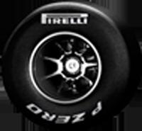 Pirelli neumático medio seco - blanco, Fórmula 1. 2011