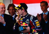 Sebastian Vettel, Red Bull Racing, GP Mónaco 2011. Fórmula 1. Domingo, carrera, Podium
