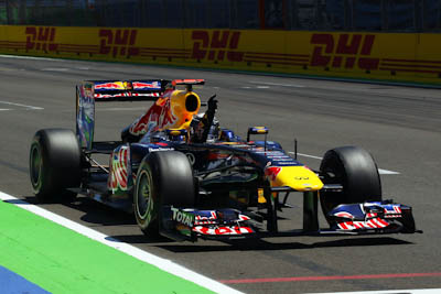 Sebastian Vettel, Red Bull Racing, GP Europa 2011. Fórmula 1. Domingo, carrera,