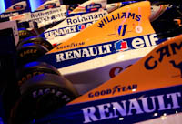 Williams, Renault partnership. Past F1 cars. Conference Centre. Fórmula 1, 2011.