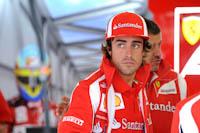 Fernando Alonso, Scuderia Ferrari, GP Gran Bretaña, 2011. Formula 1. Jueves, Box
