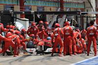 Fernando Alonso, Scuderia Ferrari, GP Europa, 2011. Formula 1. GP08. Carrera, pit stop