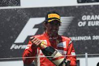 Fernando Alonso, Scuderia Ferrari, GP Europa, 2011. Formula 1. GP08. Carrera, podium