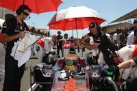 Lewis Hamilton, Vodafone McLaren Mercedes, GP Europa, 2011. Formula 1. GP08. Carrera, parrila salida