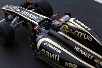 Nick Heidfeld, Lotus Renault GP, GP Gran Bretaña, 2011. Formula 1. GP09. Entr. Libres