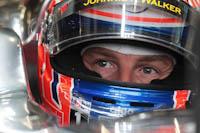 Jenson Button, Vodafone McLaren Mercedes, GP Gran Bretaña, 2011. Formula 1. GP09. Entre. Libres, Concentracion