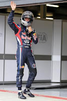 Mark Webber, Red Bull Racing, GP Gran Bretaña, 2011. Formula 1. GP09. Clasificacion, pole