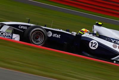 Pastor Maldonado, ATT Williams, GP Gran Bretaña, 2011. Formula 1. GP09. Clasificacion, septimo