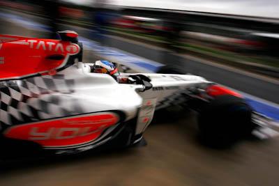 Daniel Ricciardo, Hispania Racing F1, GP Gran Bretaña, 2011. Formula 1. GP09. Primera salida