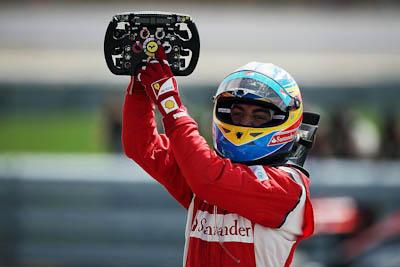 Fernando Alonso, Scuderia Ferrari, GP Gran Bretaña, 2011. Formula 1. GP09. Carrera, primero, volante