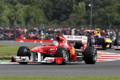 Fernando Alonso, Scuderia Ferrari, GP Gran Bretaña, 2011. Formula 1. GP09. Clasifcacion, tercero