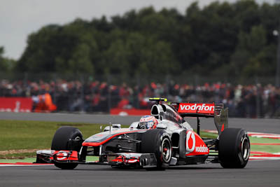 Jenson Button, Vodafone McLaren Mercedes, GP Gran Bretaña, 2011. Formula 1. GP09. Clasificacion, quinto