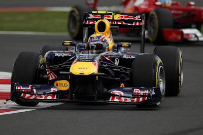 Mark Webber, Red Bull Racing, GP Gran Bretaña, 2011. Formula 1. GP09. Clasificacion, primero