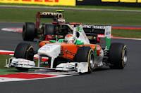 Adrian Sutil, Force India F1, GP Gran Bretaña, 2011. Formula 1. GP09. Carrera